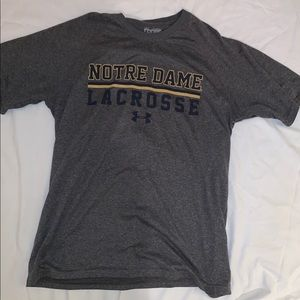 Under Armour Notre Dame Lacrosse Shirt
